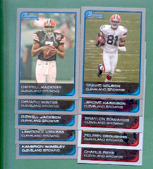 2006 Bowman Cleveland Browns Football Team Set