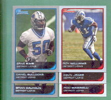 2006 Bowman Detroit Lions Football Set