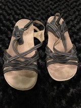 Easy Spirit Savasanat Open Toe Slingback Sandals Leather Blue Size 9.5 - $12.19