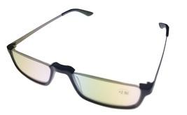 Tumi Mens Reading Glasses Black Plastic Rectangle Rimless 2.5 Desmond - $67.49