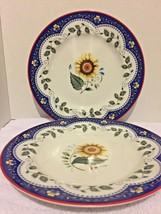 "Vera Bradley By Home Andrea by Sadek Ceramic Salad Plates Set Of 2 8"" - £14.09 GBP"