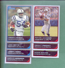 2006 Bowman Indianapolis Colts Football Team Set