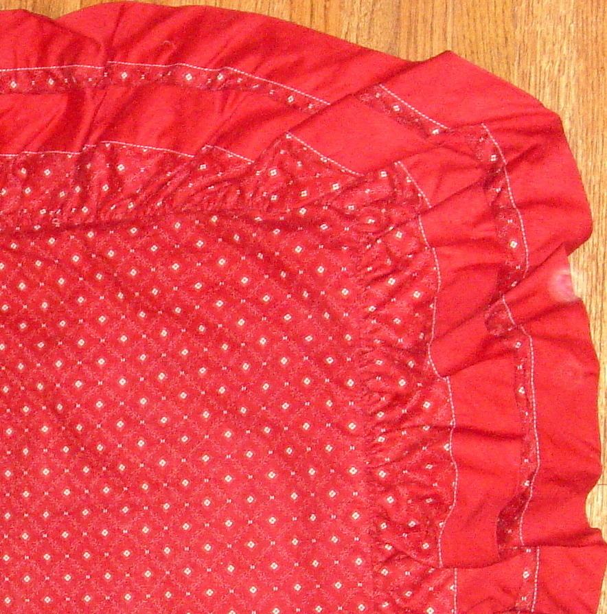 Red & Ivory Quilt Print Pillow Sham by Ralph Lauren