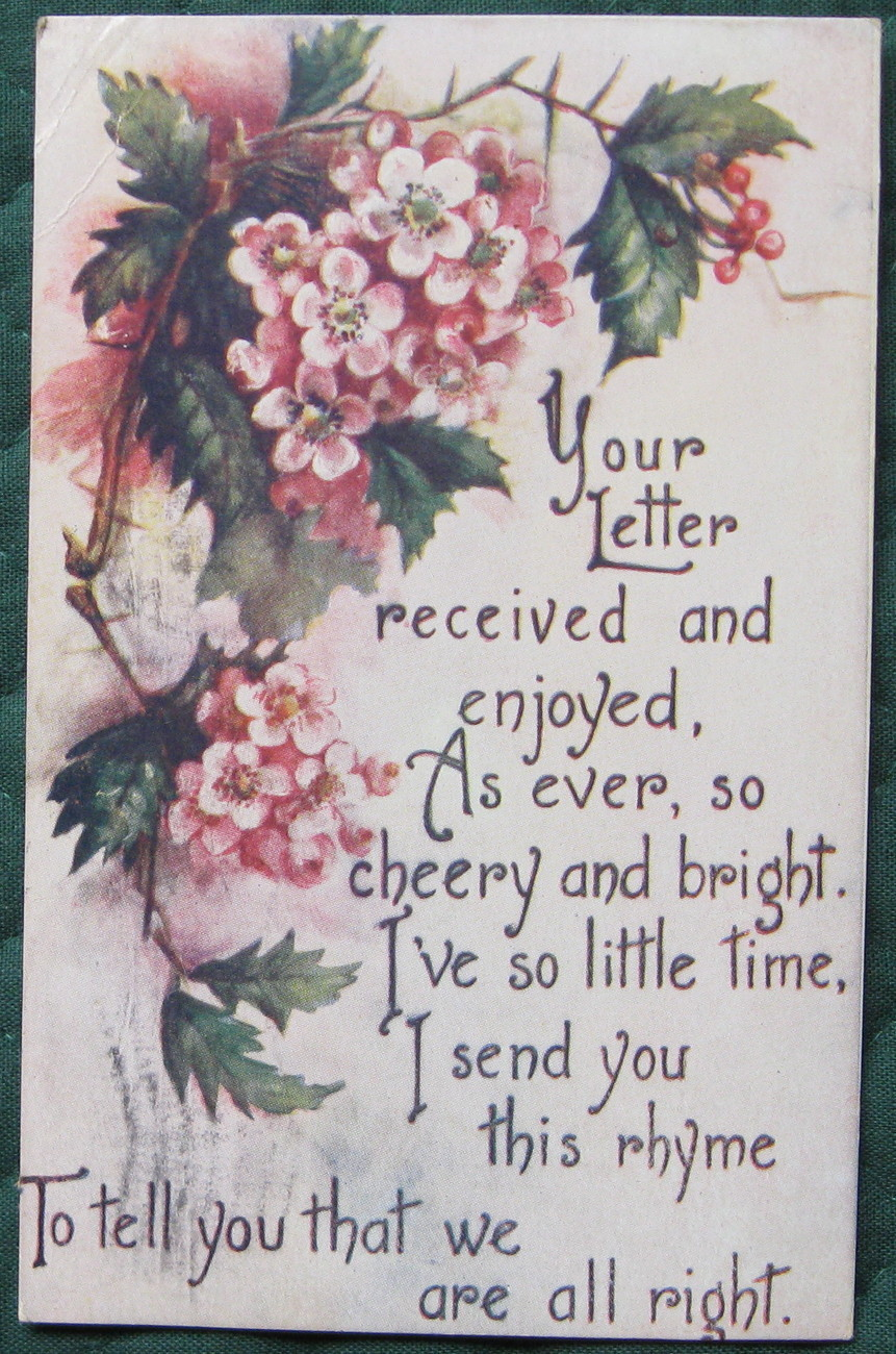 Your letter 1 1