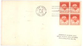 Canal Zone 1/2 cent First Day Cover block of 4 Aug 16, 1948 Balboa Heights - $1.99