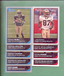 2006 Bowman New Orleans Saints Football Set