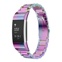 Fitbit Charge 2 Stainless Steel Replacement Accessory Band Oitom premium... - $377,01 MXN