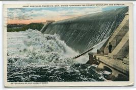 Great Northern Power Co Dam Duluth Superior Minnesota 1924 postcard - $6.93