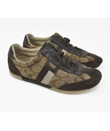 Coach Women's Sz 6M Brown Leather Lace Up Spellout Comfort Shoes Q293 - $25.95