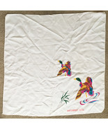 """Vintage WHITEHORSE YUKON Canada Souvenir Scarf • White w/ Ducks • 28.5"""" ... - $19.75"""