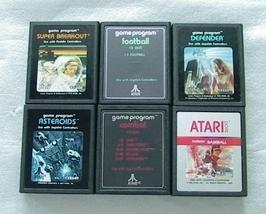 Atari 2600 6 Great Games Super Breakout, More - $19.95