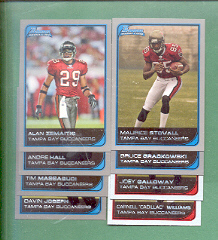 2006 Bowman Tampa Bay Buccaneers Football Team Set