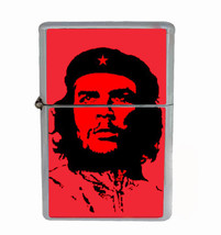 Che Guevara Rs1 Flip Top Oil Lighter Wind Resistant With Case - $12.82