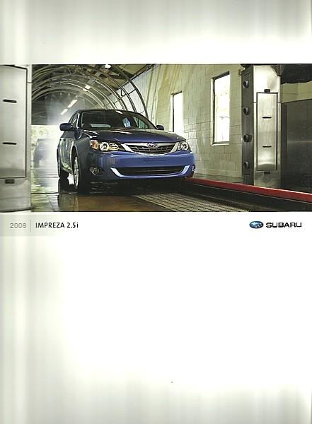 2008 Subaru IMPREZA 2.5i brochure catalog US OUTBACK SPORT