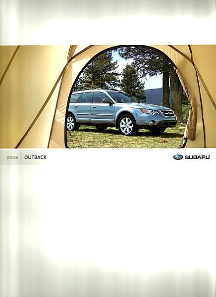 2008 Subaru OUTBACK brochure catalog US 2.5i 3.0R L.L. Bean