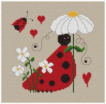 Valentine Bugs 2 love PDF cross stitch chart Helga Mandl Designs - $5.00