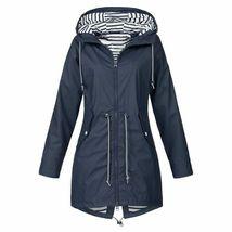 Women's Hooded Jackets Warm Wide Female Jackets Solid Rain Outdoor Jackets - $27.20