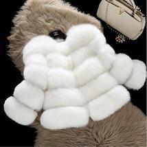 Women Winter fashion Designer Thick Faux Mink Coat image 5