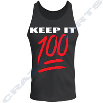 Keep it 100 Classic Big and Hip Hop Tank Top Black Pro Club Street Wear ... - $9.89+