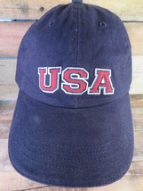 USA United States of America Blue Red White Adjustable Adult Hat Cap - $8.90