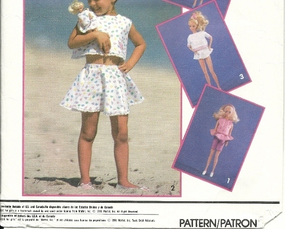 Simplicity 8388, Barbie for Girls Pattern Child & Doll Outfits Matching Clothes
