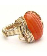 Wire Wrapped R/W Sardonyx 2 Tone Silver / 14kt ... - $125.00