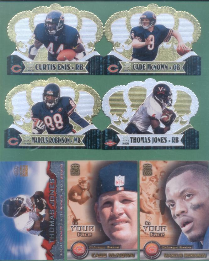 2000 Pacific Crown Royal Chicago Bears Football Set