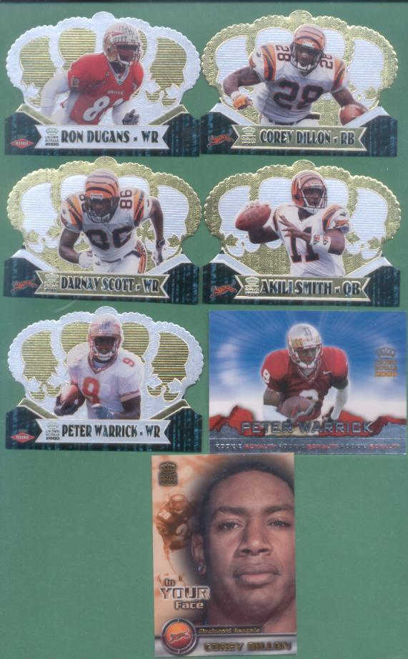 2000 Pacific Crown Royal Cincinnati Bengals Football Set