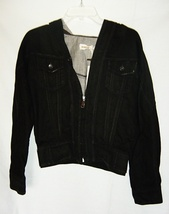 Diesel Hooded Black Denim Jacket NWOT - $75.00