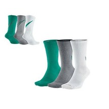Nike Dry Unisex 3 Pair Pack Cushioned Crew Socks SX4950-909 - $22.99