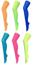Sock Snob - Womens 40 Denier Opaque Bright Colorful Neon Tights 4-10 US - $9.99