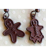 Antiqued Gingerbread Man and Woman Earrings Ann... - $4.00