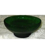 Depression Hoosier Glass Ribbed Bowl-- #4054-Emerald Green-US - $10.00