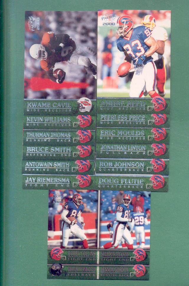 2000 Pacific Buffalo Bills Football Team Set