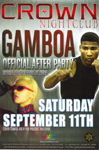 GAMBOA Official After Party @ Crown Nightclub RIO LAS VEGAS Promo Card w... - $3.95