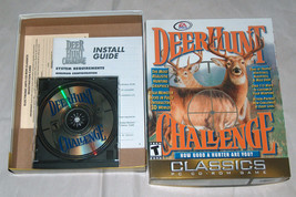 RARE EA Sports Deer Hunt Challenge 3D Video Game PC CD-ROM w/ BOX, GUIDE... - $18.76