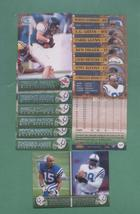 2000 Pacific Indianapolis Colts Football Team Set - $3.00