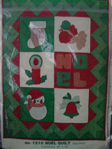 "Pattern 1210 Noel Quilt (Top Only) 40"" x 50"" - $4.99"