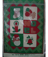 "Pattern 1210 Noel Quilt (Top Only) 40"" x 50"" - $5.00"