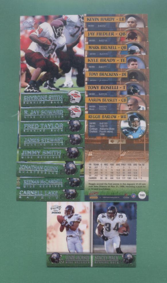 2000 Pacific Jacksonville Jaguars Team Football Set
