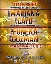HBO Title Night Maidana/Cayo & Funeka/ Guzman Promo Card - $3.95