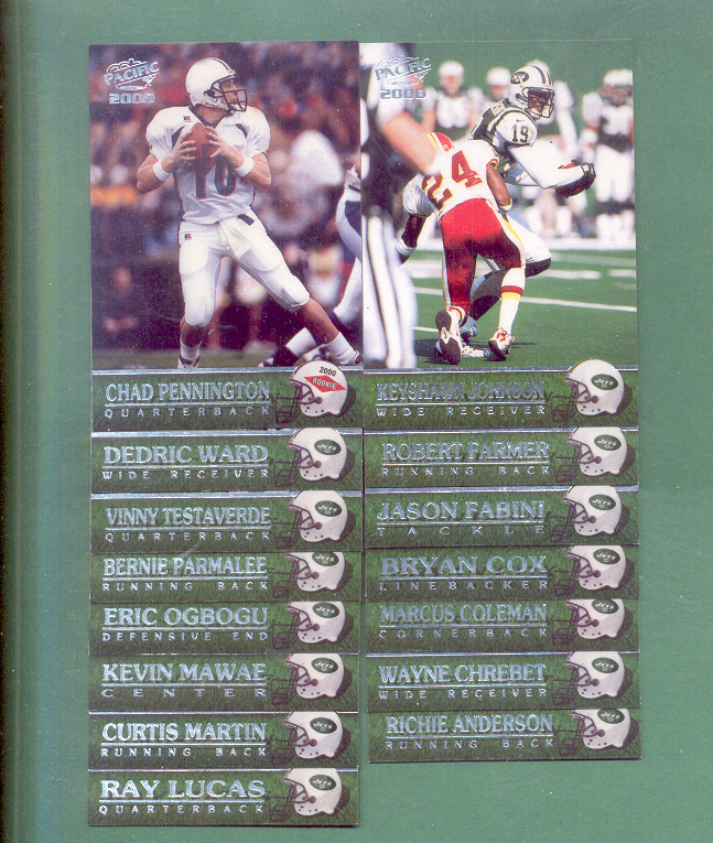 2000 Pacific New York Jets Football Team Set