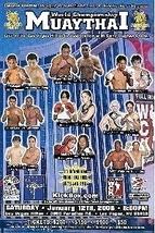 MuayThai World champshionship Mini Poster - $5.95