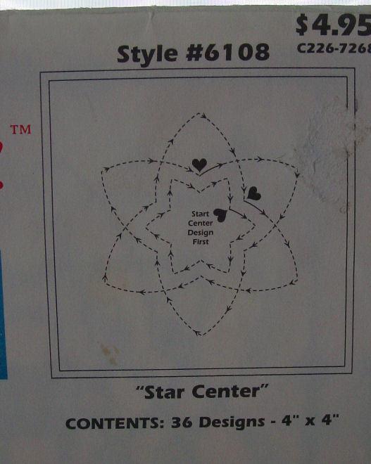 Stitch Thru Tear Away Stencils for Quilting #6108 - Quilt Templates & Stencils