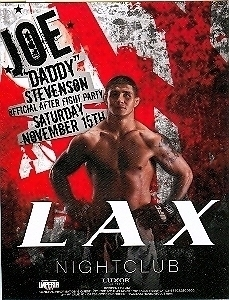 Joe Daddy Stevenson Official After Fight Party Promo Card