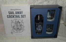 3 Pc Tommy Bahama Sail Away Bar Cocktail Shaker & Glass Set NIB FREE SHI... - $64.99
