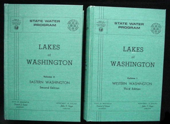 Lakes Of Washington State Book Set 1973 Fishing Hiking