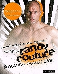 Randy Couture After fight Party Vegas Promo Card
