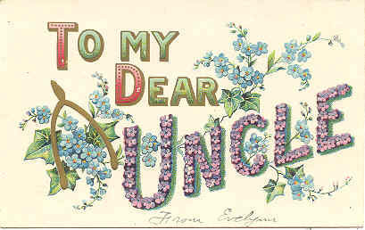 To My Dear Uncle a Vintage Fathers Day Post Card