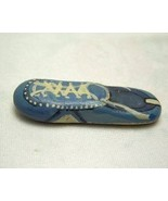 Small Hand Painted Rock Blue Moccasin One Of A ... - $4.99